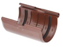 Соединитель желоба ПВХ Красный 125 мм