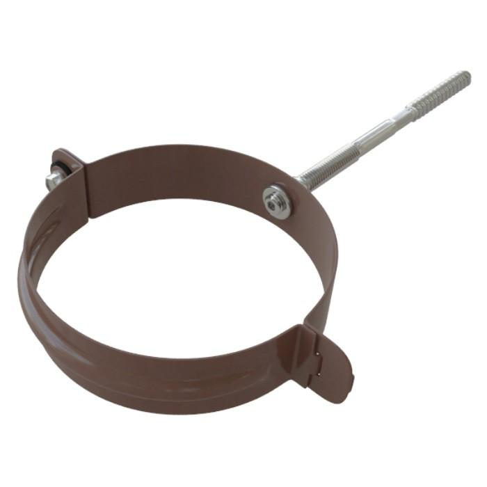 Хомут трубы металлический Коричневый 95 мм