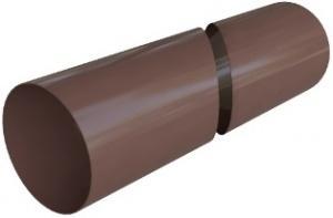 Труба водосточная ПВХ Коричневая 95х3000 мм