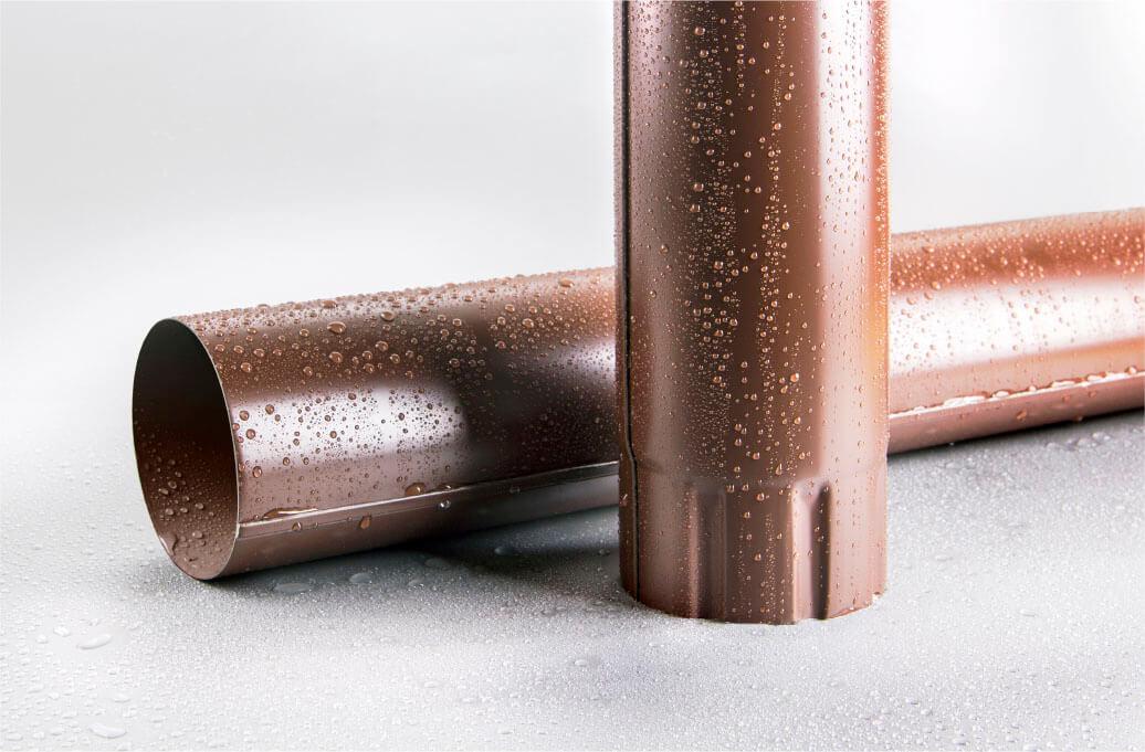 Труба круглая соединительная 100мм 1м RAL 8017 шоколад