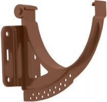 Кронштейн жёлоба ПВХ (коричневый цвет) 115 мм