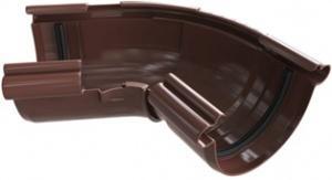 Угол желоба регулируемый 120-145 градусов ПВХ Коричневый 125 мм