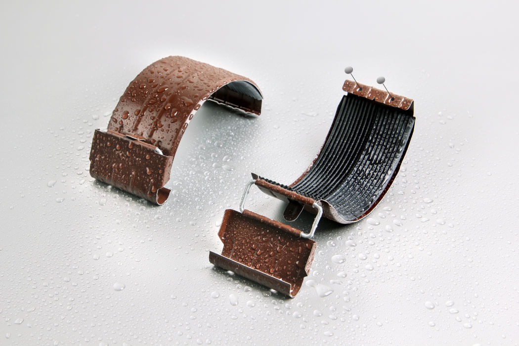 Соединитель желоба 125/100 мм RAL 8017 шоколад