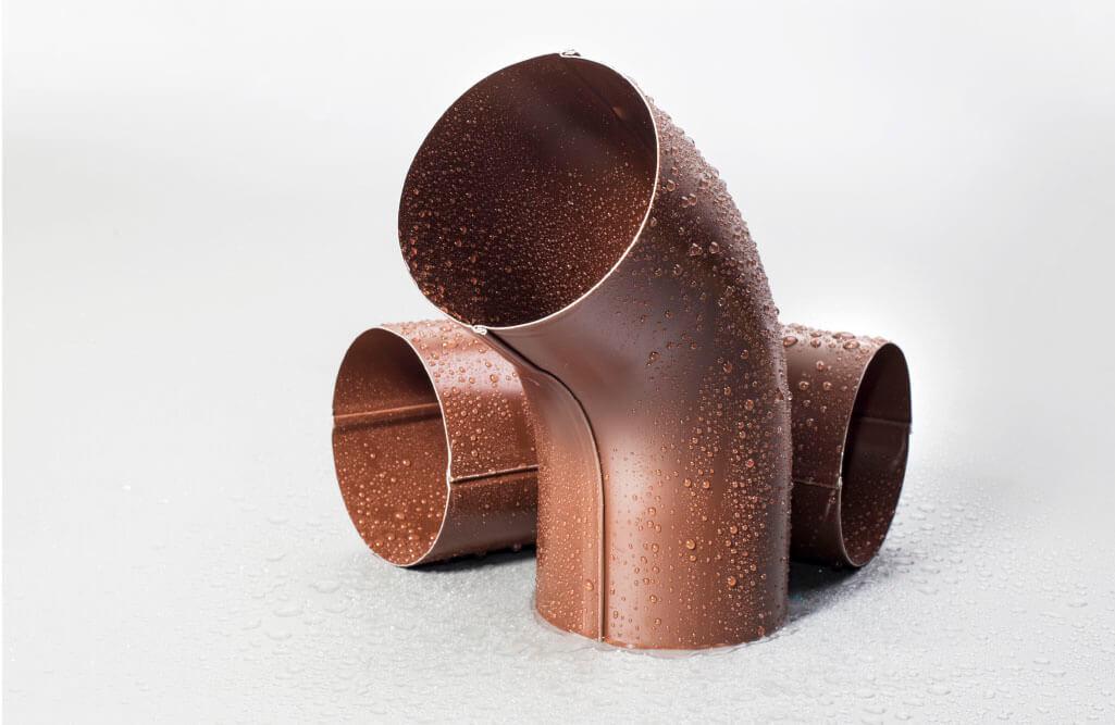 Колено 100 мм RAL 8017 шоколад [1]