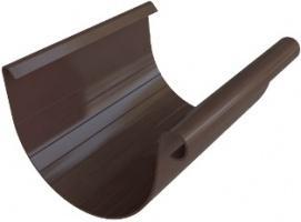 Жёлоб водосточный ПВХ, цвет коричнево-белый, длина 4м, диаметр 125 мм