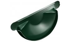Заглушка желоба 125/100 мм RAL 6005 Зеленый мох
