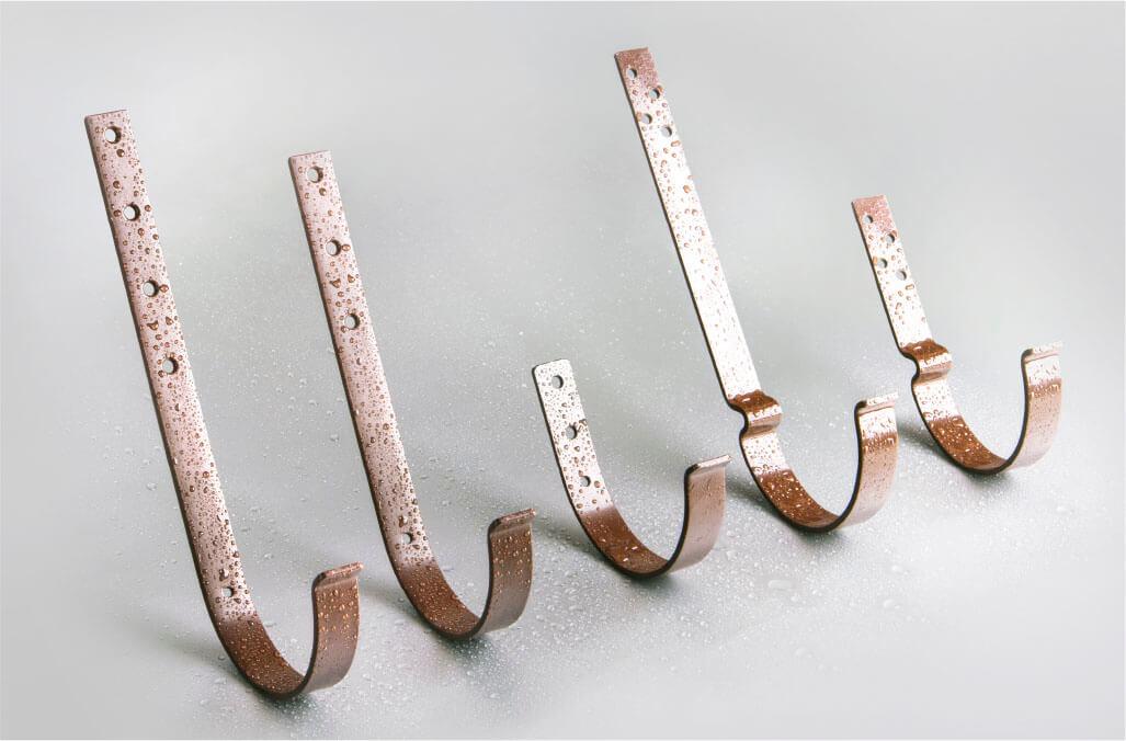 Крюк короткий 125/100 мм RAL 8017 шоколад