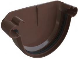 Заглушка желоба ПВХ Коричневая 125 мм