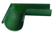 Угол желоба внешний 90 гр 125 мм RAL 6005 Зеленый мох