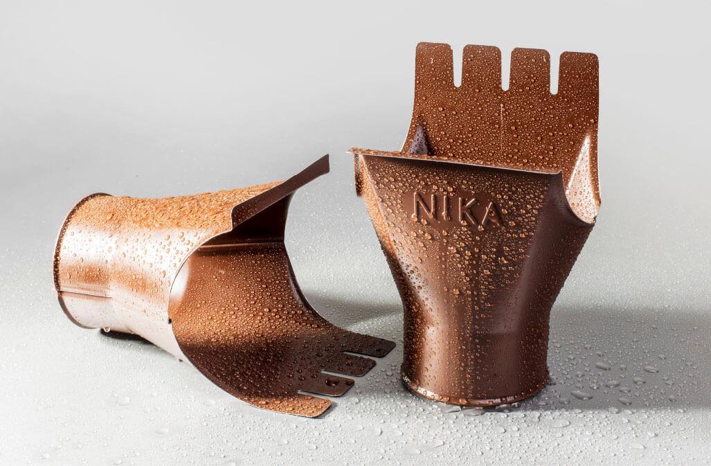 Воронка 125/100 мм RAL 8017 шоколад