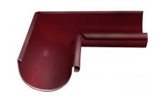 Угол желоба внутренний 90 гр 125/100 мм RAL 3005 Красное вино