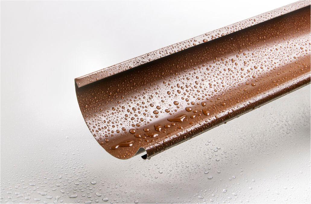 Желоб полукруглый 3 м 125/100 мм RAL 8017 шоколад