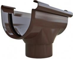 Воронка водосточная ПВХ Коричневая 125/95 мм