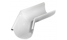Угол желоба внешний 135 гр 125/100 мм RAL 9003 Белый