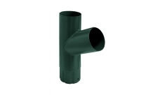 Тройник трубы,90 мм RAL 6005 Зеленый мох