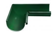 Угол желоба внутренний 90 гр 125/100 мм RAL 6005 Зеленый мох