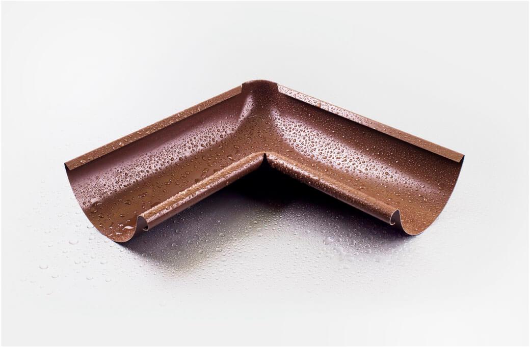 Угол желоба внутренний 90 гр 125/100 мм RAL 8017 шоколад