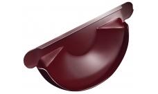 Заглушка желоба 125/100 мм RAL 3005 Красное вино