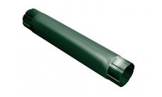 Труба круглая соединительная 100мм 1м RAL 6005 Зеленый мох