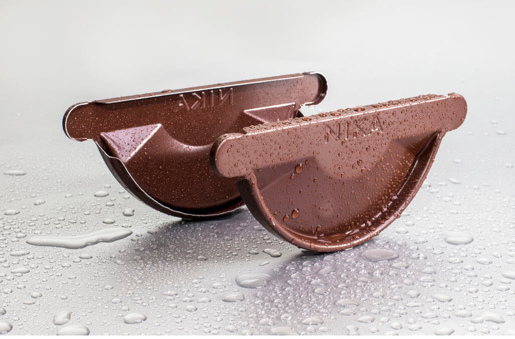 Заглушка желоба 125/100 мм RAL 8017 шоколад