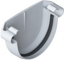 Заглушка желоба ПВХ Белый 125 мм