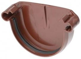 Заглушка желоба ПВХ Красный 125 мм