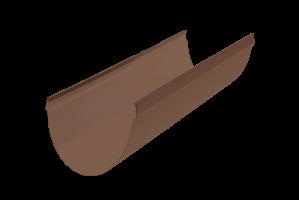 Жёлоб водосточный ПВХ, цвет коричневый, длина 3м, диаметр 115 мм